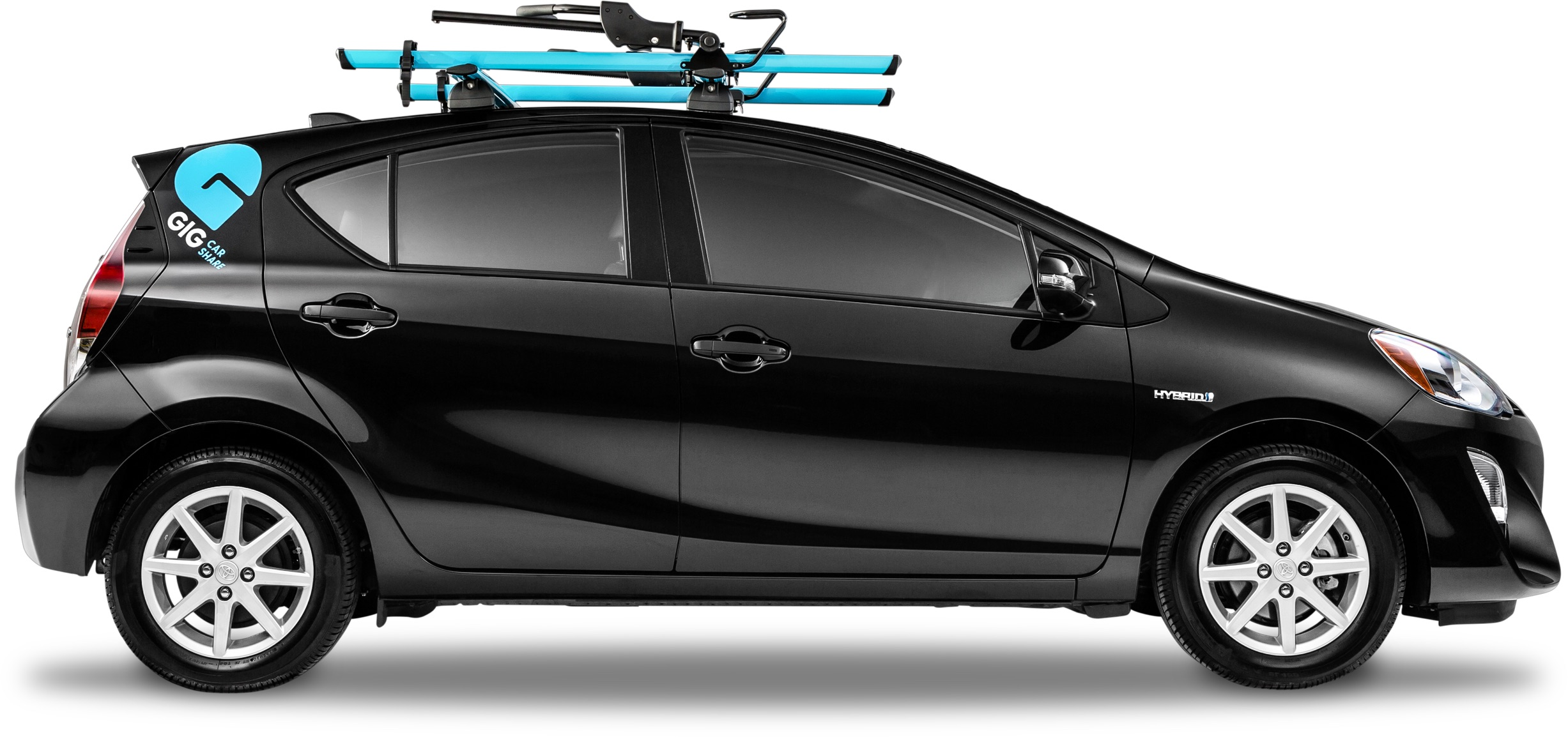 its easy to drive and easier on the environment gig has room for friends and cargo and is equipped with two bike racks so you can take your other wheels