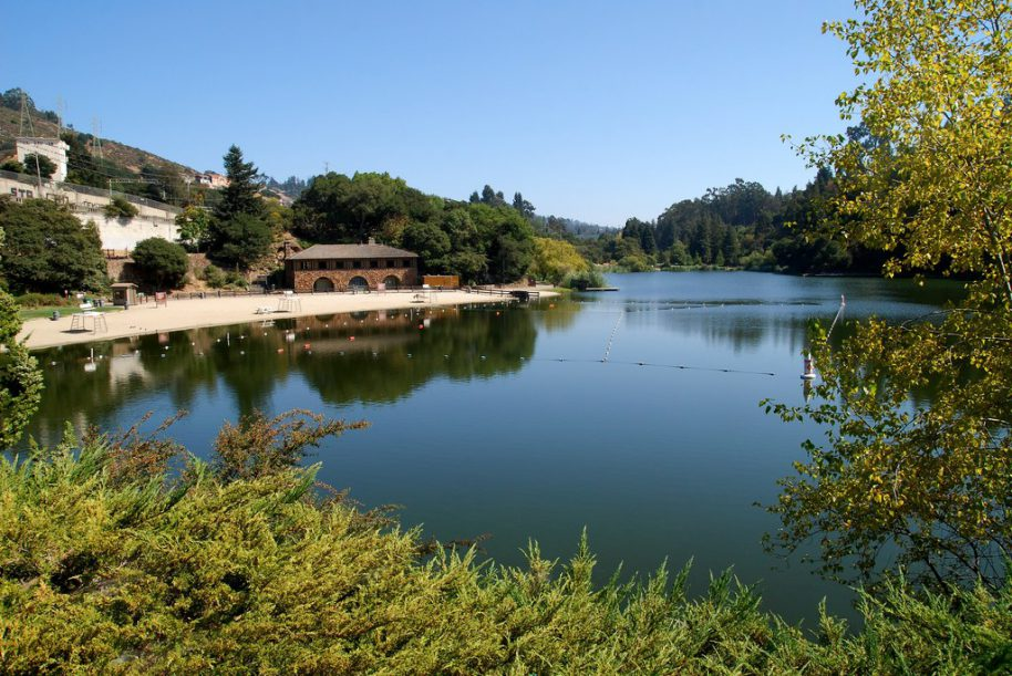 lake temescal swimming hole oakland east bay gig car share