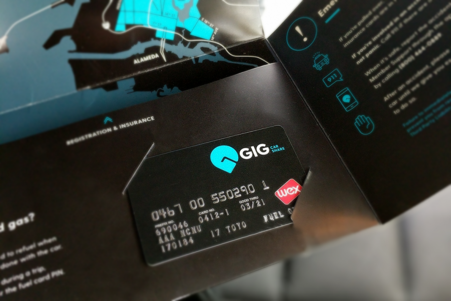 gig car share gig card and gas card