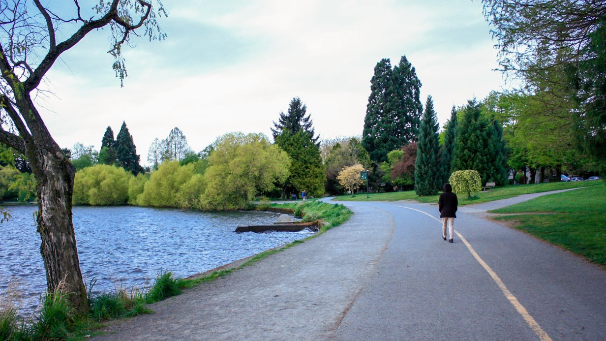 Green Lake Park, walking trail, Seattle