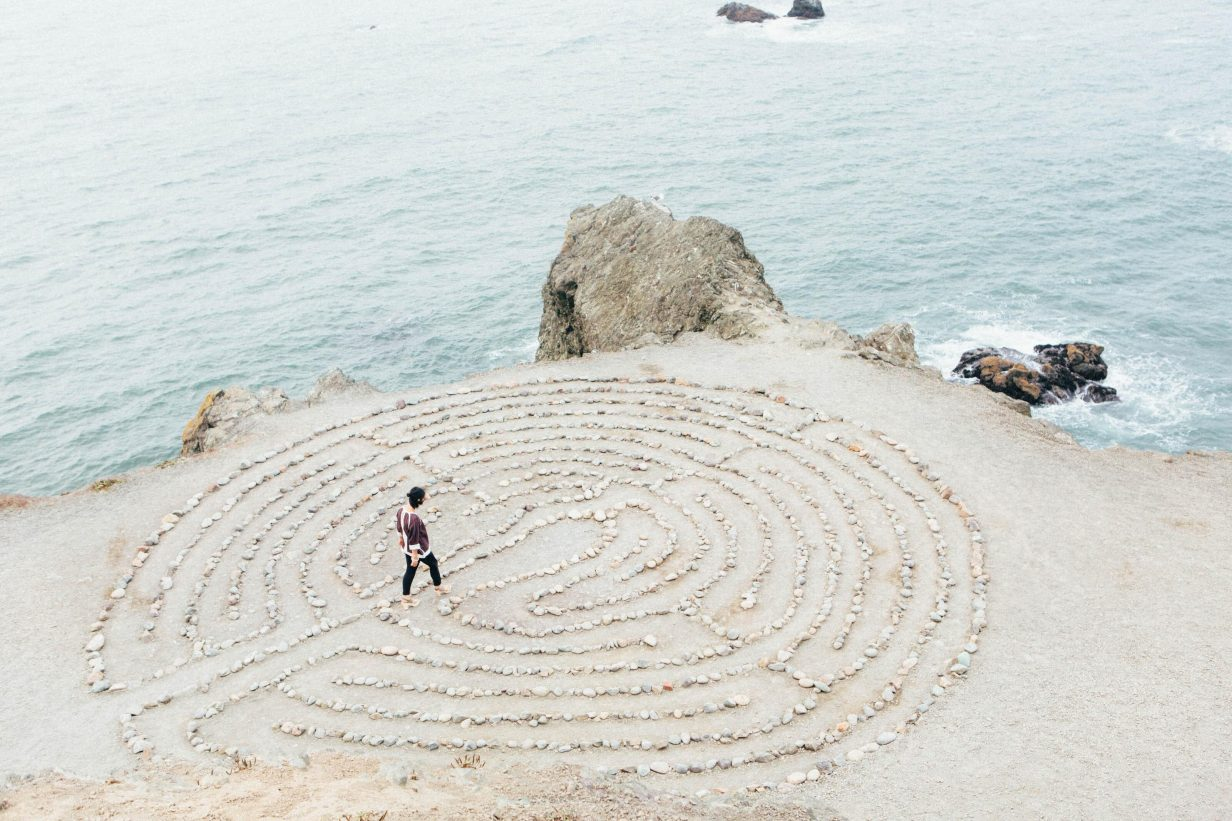land's end labyrinth, marin headlands, sutro baths