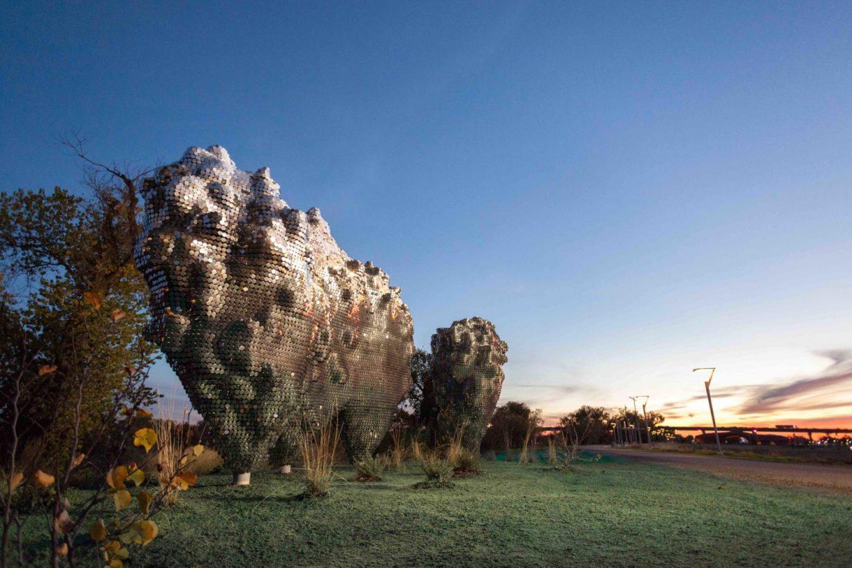 Subtile art sculpture in Sacramento